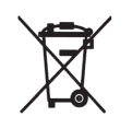 Mülltonne Symbol Batterie VO