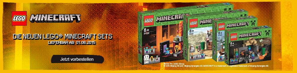 xB 2015-07 Lego Minecraft vorbestellen