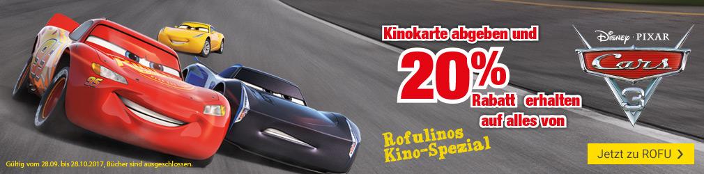xB 2017-38 Cars 3 Kinoticket ROFU